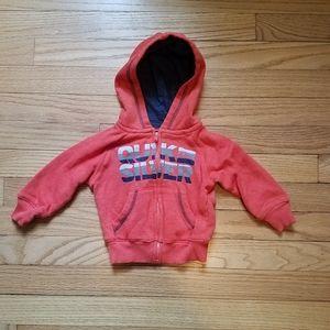 Quicksilver burnt orange full zip up hoodie